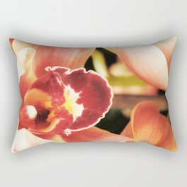 Flaming Orchid Rectangular Pillow