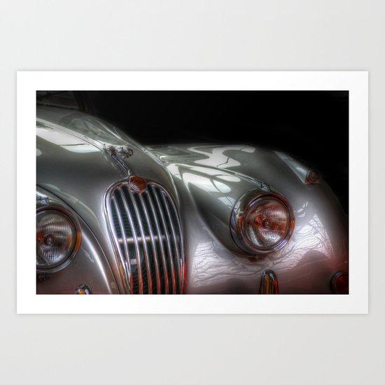 Silver Jag Art Print