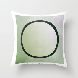 bruised circle Throw Pillow