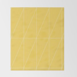 Yellow Triangles by Friztin Throw Blanket