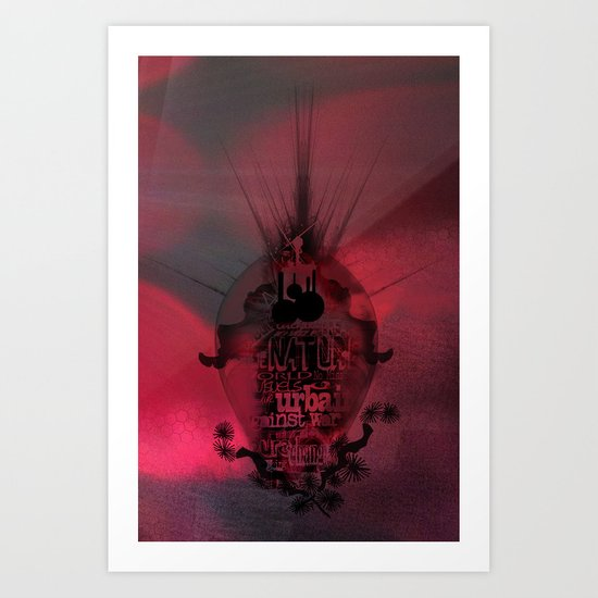 Swallowed in the sea Art Print