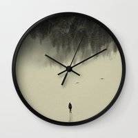 photograph Wall Clocks featuring Silent walk by Andreas Lie