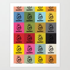 HAPPY SQUARES Art Print