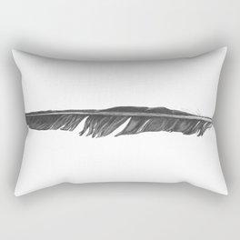 Black Ink Crow Feather Rectangular Pillow
