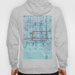 Chicago map in blue Hoody