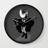 merlin Wall Clocks featuring Merlin Monroe by sayahelmi