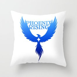 PHOENIX RISING blue with star center Throw Pillow