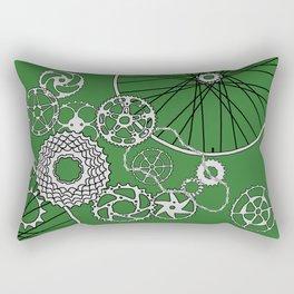 Beautiful Bicycle Parts go green Rectangular Pillow