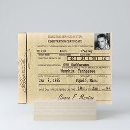 Elvis Presley Selective Service Certificate Mini Art Print