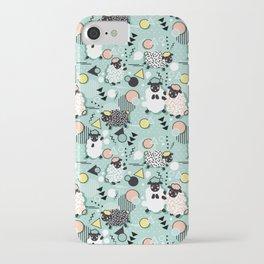 Mééé Memphis sheep // mint background iPhone Case