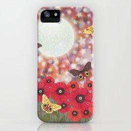 the moon, stars, io moths, & poppies iPhone Case