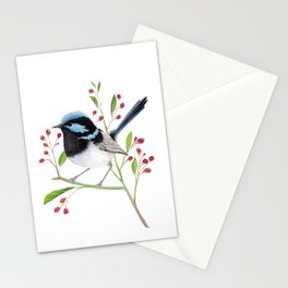 Blue Wren Stationery Cards