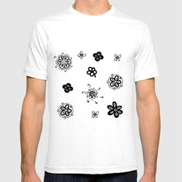 flowers on white background T-shirt
