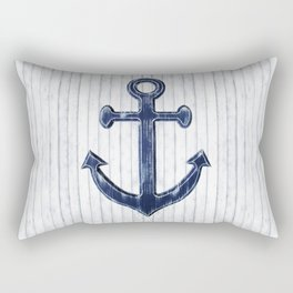 Rustic Anchor in navy blue Rectangular Pillow