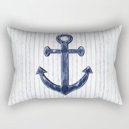 Rustic Anchor in navy blue Rectangular Pillow