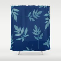 botanical Shower Curtains featuring Botanical by Jody Edwards Art