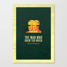 MAN WHO KNEW TO MUCH - Hitchcok Poster Canvas Print