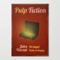 pulp fiction Canvas Prints featuring Pulp Fiction by rkbr