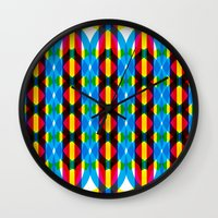 dna Wall Clocks featuring DNA by dzynwrld