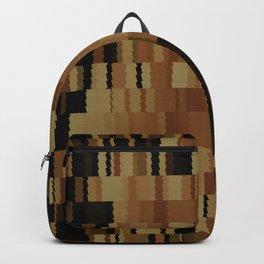 Brown Khaki Tan Brown and Black Digi Fractal Backpack