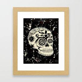 Brainy Sugar Skull Framed Art Print