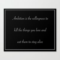 30 rock Canvas Prints featuring Ambition (30 Rock) by nicemarmot