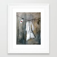 nurse Framed Art Prints featuring nurse by woman