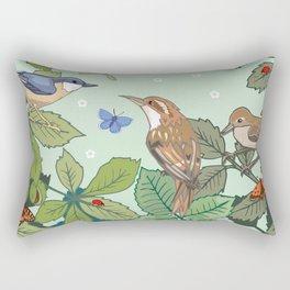 Woodland Birds Rectangular Pillow
