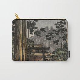 Tsuchiya Koitsu - Nikko Futarasan Temple - Japanese Vintage Woodblock Painting Carry-All Pouch