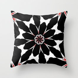 Bizarre Red Black and White Pattern 4 Throw Pillow