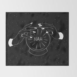 Nah future - crystal ball Throw Blanket