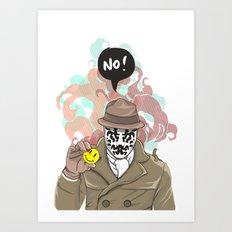 NO! Rorschach Art Print