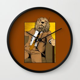 Pride of Lion Wall Clock