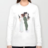 ripley Long Sleeve T-shirts featuring Leia and Ripley by Ashley Anderson