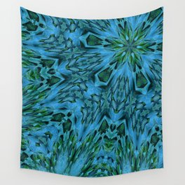 Big Blue Flower Wall Tapestry