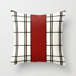 Shoji - red Throw Pillow