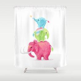 Elephants Shower Curtain