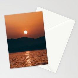 sunset sea skyline nerja spain Stationery Cards