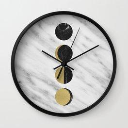 Black Moon on Marble Wall Clock