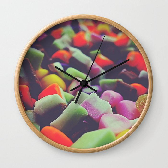 Sweets 05A - Dolly Mixtures Wall Clock