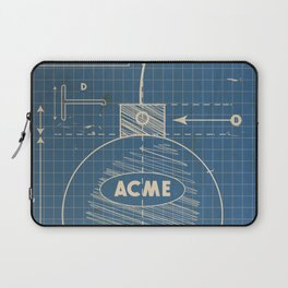 Acme Spherical Bomb vintage Blueprint Laptop Sleeve