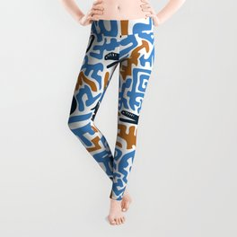 Vintage ethnic pattern. African crocodiles and elephants. Modern tribal african hand drawn illustration pattern. Leggings