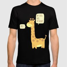 Giraffe problems! - Baby Blue version Black Mens Fitted Tee MEDIUM