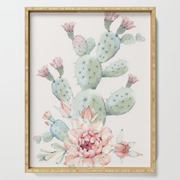 Cactus 3 #society6 #buyart Serving Tray