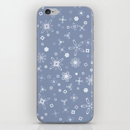 Blossoms & Berries - Colors: Blue Frost iPhone Skin