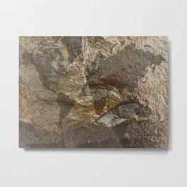 Rock Map 2 - Organic World Map Series Metal Print