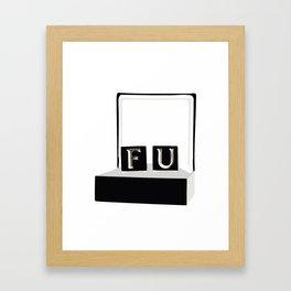 Frank Underwood's cufflinks Framed Art Print
