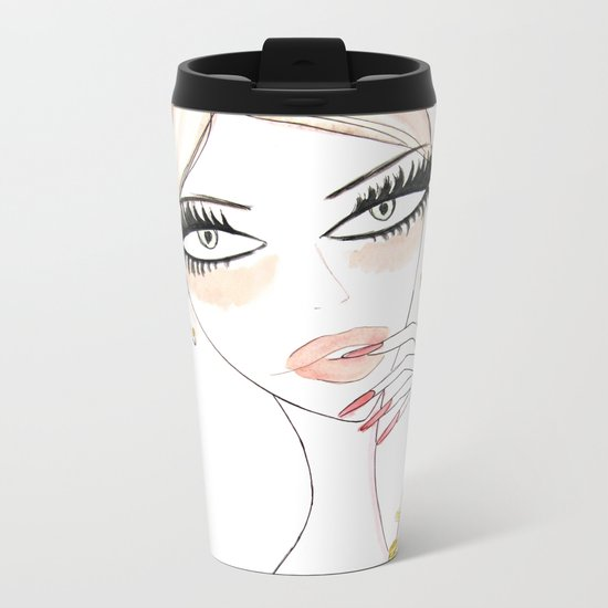 Thinking Babe Metal Travel Mug