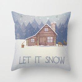 Winter - Let it snow Throw Pillow