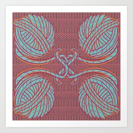 Knitting Bright Art Print